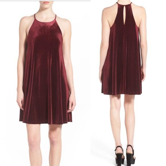 3a8364667101d Everly Dresses | Textured Velour Swing Dress Velvet Dress | Poshmark